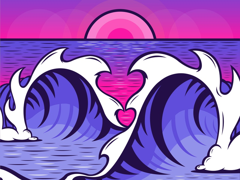 V-Day Tubes or Maui Sunset maui aloha waves ocean wave tubes valentines vday