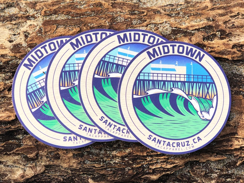 MIDTOWN Coasters wave coaster santacruz stickermule midtown