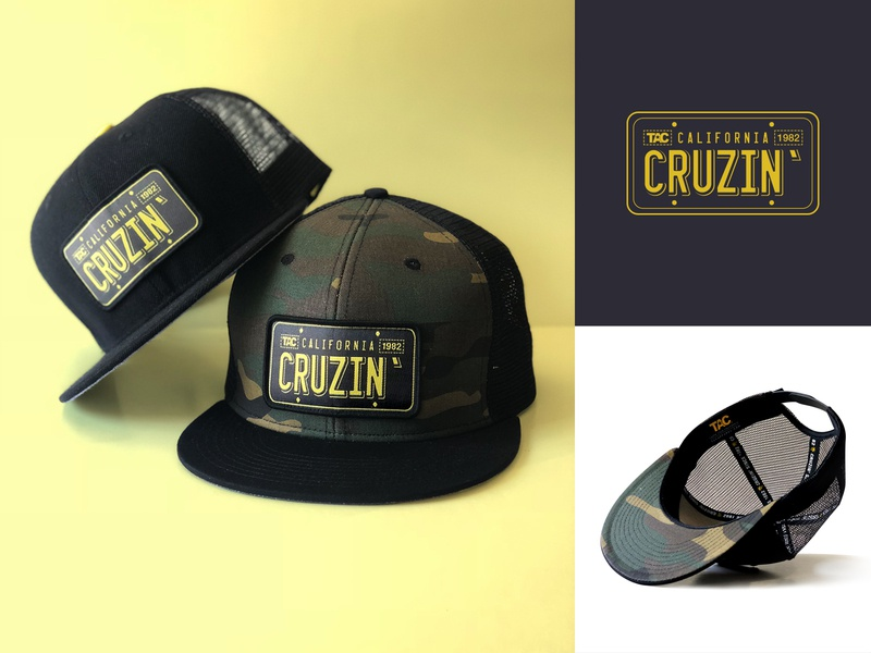 California Cruzin' Hat snapback hat art license plate california cruzin