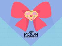 Moon Ribbon Background