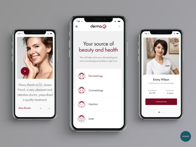 Derma Plus Mobile Website
