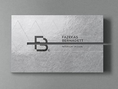 Business card for an interior designer