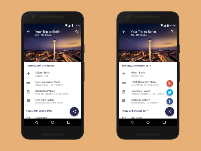 Plan Your Trip ui ux share google material design adobe xd