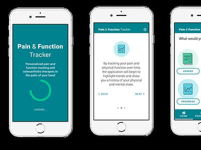 Mobile Medical tracker medical app mobile app illustrations uidesign mobile ui design