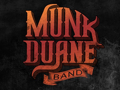 Munk Duane Band logo funky album typography grunge texture logo vintage text western music country