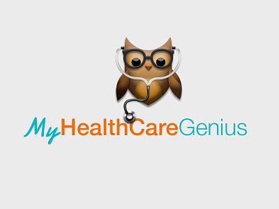 My HealthCare Genius logo health 3d logo owl healthcare