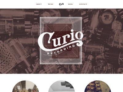Curio Recording vintage hand drawn logo