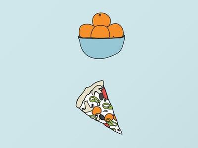 Friday Night Party Prints Sm video games orange pizza retro illustration
