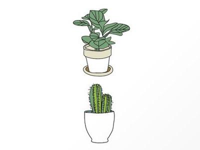 Plants Cactus Coffee Prints Sm plant cactus retro illustration