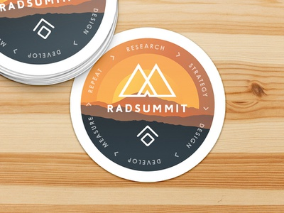Limina Radsummit Sticker orange vintage retro illustration radsummit sticker