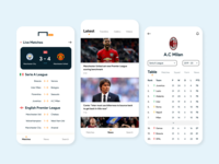 Goal App Re-Design branding live score app design app goal football interaction design userinterface ui design ui ux