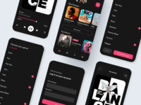 Music Streaming App design interaction design ux userinterface ui design ui