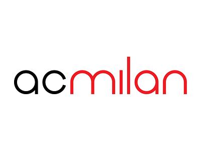 Milan Type milan ac milan typography typeface type lettering iconography italy