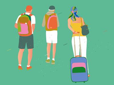 Travel trip travel vector drawing illustrator illustration