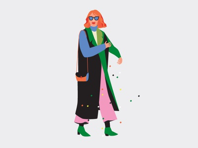 Cool woman 1 (Be bold) bold woman fashion vector illustrator gorgeous flat drawing design illustration cool