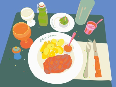 Well done! Great! graphic drawing color illustration illustrator vector meal