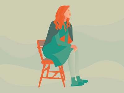 Out of noise drawing woman color vector illustrator illustration
