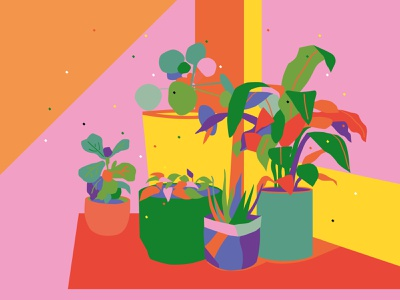 Brighten greenery drawing 2d color vector illustrator illustration
