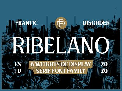 Ribelano Typeface rebel serif type design typeface font typography