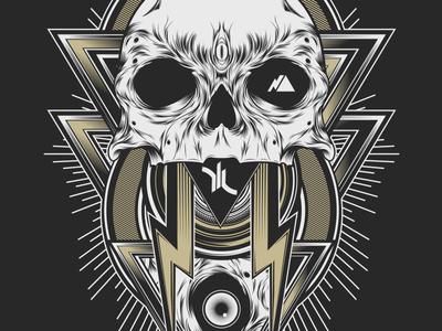 Triangle Skull graphic illuminati triangle vector illustration design skull