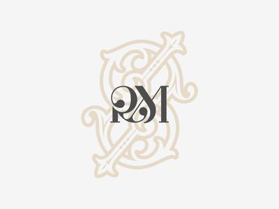 RM Monogram art logotype branding simple vector logo design monogram rm