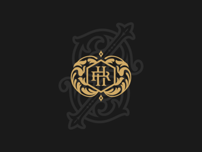 RH or HR monogram vector logotype rh elegant classic artwork art monogram logo