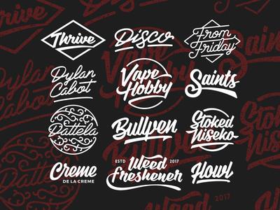 Lettering Work wordmark logo cursive graphic design design custom type lettering typography