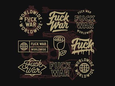 Fuck War fuck war artwork art vector custom type typography lettering graphic design design