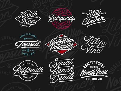 Lettering Works simple monoline art cursive logotype branding script graphic design vector type logo lettering custom type typography design
