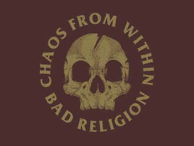 Chaos From Within skull illustration graphic design vector design