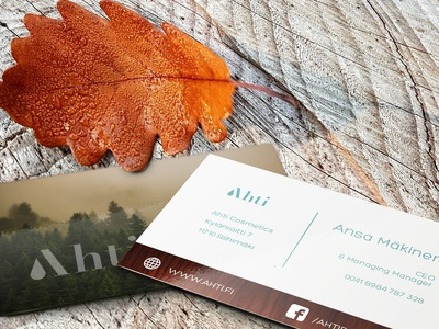 Business Cards for a natural beauty brand