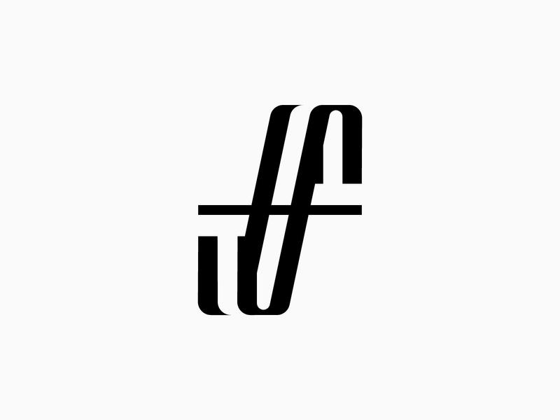 Letter F - Logo, branding, icon, logotype vector symbol monogram lettering minimalist logo simple logo branding typography logotype icon logo