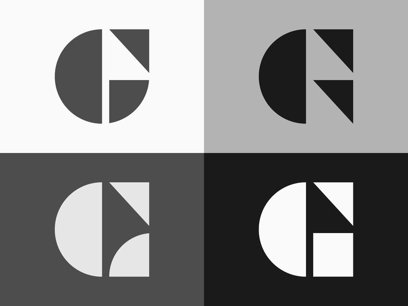 Letter G - Logo, lettermark, branding, icon, geometric simple logo letter symbol branding icon typography monogram lettering logotype logo lettermark