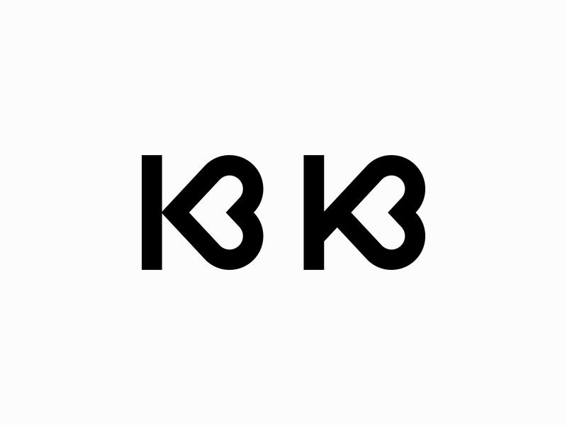 Letter K - Logo, lettermark, branding, icon, love, valentine minimalist monogram branding love simple logo typography logotype lettering icon mark logo valentine day