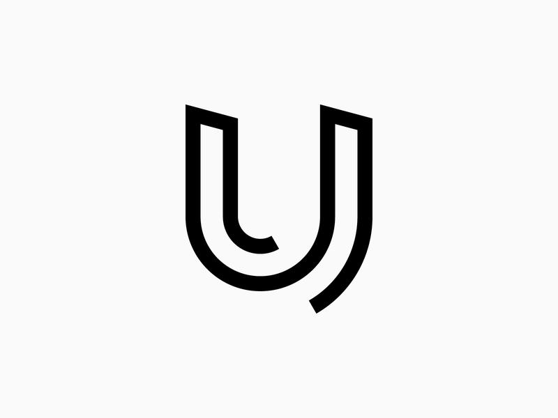 Letter U - Logo, Icon, Branding, Lettermark, Design branding lettermark logo monogram design minimalist logo simple logo logo design logo mark logotype lettering mark icon logo