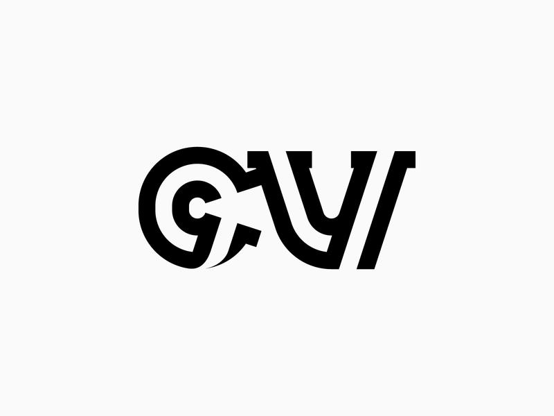 The letter C & V for Coronavirus - Logo, Icon, Branding, Letterm logotype minimalist logo simple logo logo design lettermark lettering monogram mark icon logo covid-19 covid19 covid corona virus coronavirus