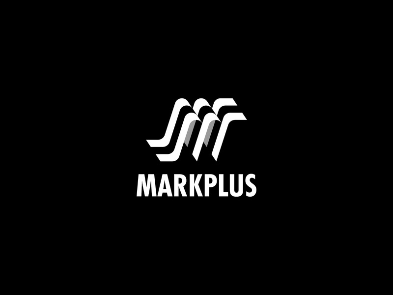 Markplus (M) - Logo design, icon, branding logotype monogram branding typography modern logo modernism lettering simple logo minimalist logo logo logos logo design letter m logo marketing letter logo letter mark