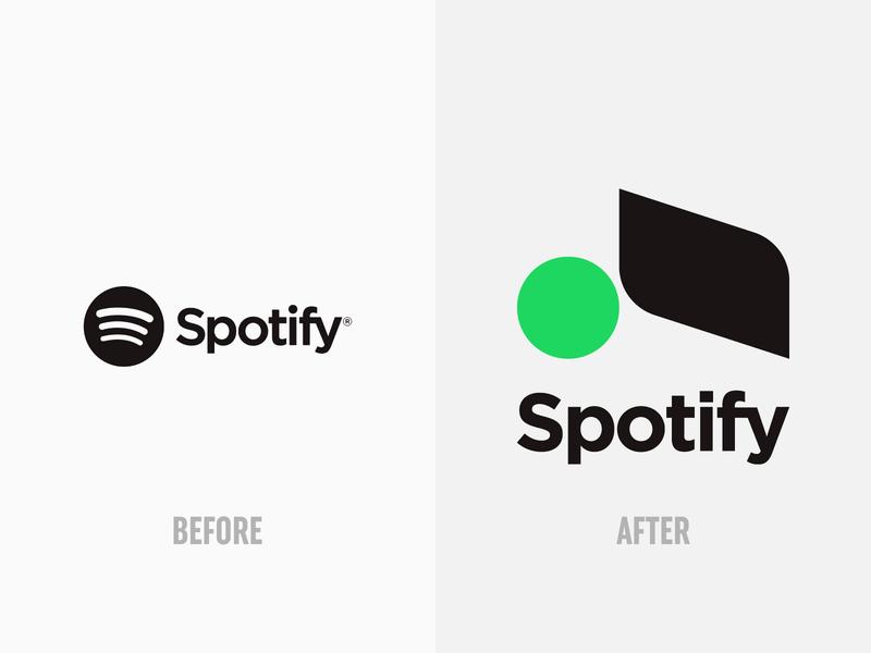 Spotify - Logo design, brand identity, branding redesign concept logotype icon typography branding brand identity minimalist logo modern logo modernism simple logo logo design logos logo spotify cover spotify