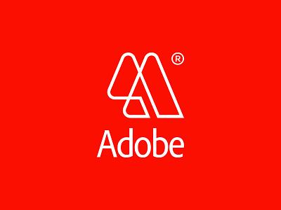 Redesign the Adobe logo - Logo design, branding, icon lettering monogram branding logotype logos logo modern design minimalist logo modern logo simple logo logo design alphabet logo letter lettermark letter a logo letter a adobe photoshop adobe illustrator adobe