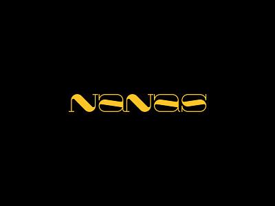 Nanas - Logo design, branding, typography, logotype branding lettering serif typeface serif unique logo typography type design typeface minimalist logo modern logo simple logo logo design logo mark logotype logosai logos logo