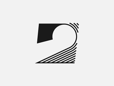 Number 2 - Logo design, branding, logotype branding lettering typography monogram logotype minimalist logo abstract logo modern logo simple logo logo design logos logo number 2 number logo number