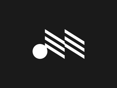 Letter M for Music - Logo design, branding, logotype typography lettering monogram logotype alphabet logo modern logo minimalist logo simple logo logo design logos logo letter m logo letter m letter logo music logo audio logo