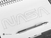 NASA worm logotype | logo | branding