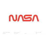 NASA worm logotype | logo | branding | monogram
