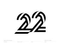 Number 22 #2 - Logo, Mark, Icon, Branding, Monogram