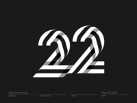 Number 22 #3 - Logo, Mark, Icon, Branding, Monogram
