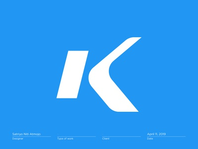Letter K - Logo, Mark, Icon, Branding, Monogram