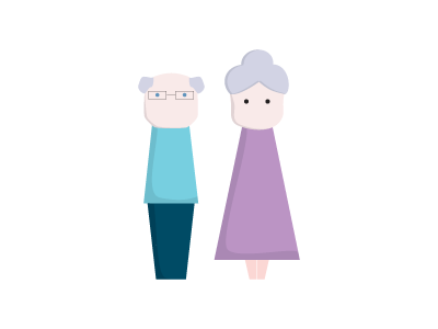 Mr. Grandpa & Mrs. Grandma grandma grandpa oldman illustrator vector old character illustration