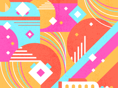 To Infinity random playing rocketship rocket texture retro space race futuristic patterns practice spaceship space pattern vector art growing flat illustration bright color combinations design illustration
