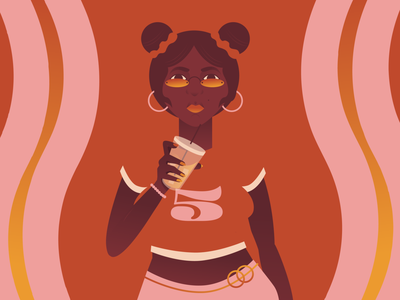 I'm Gonna Need You To Take 5 practice donate leo african american summer hot drink drinking optical illusion optical art optical 70s independent strong women fire flames powerful five women in illustration woman illustration